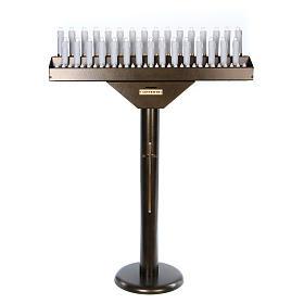 Votivo elettrico 31 candele a 24Vcc pulsanti lampadine s1
