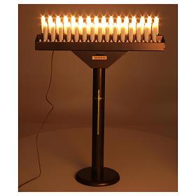 Votivo elettrico 31 candele a 24Vcc pulsanti lampadine s2