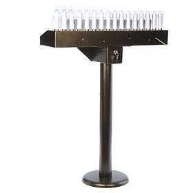 Votivo elettrico 31 candele a 24Vcc pulsanti lampadine s9