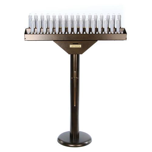 Votivo elettrico 31 candele a 24Vcc pulsanti lampadine 1