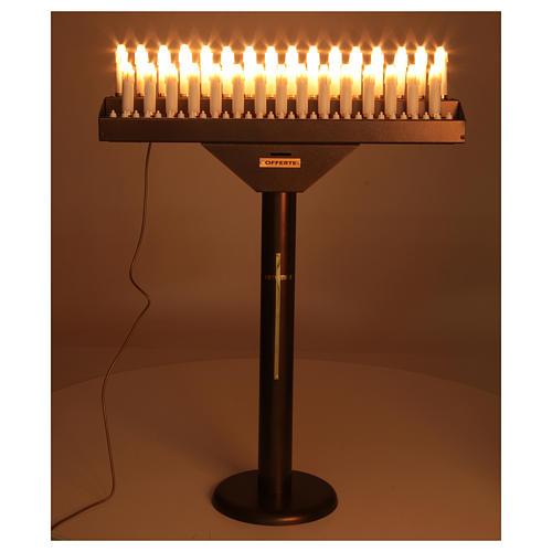 Votivo elettrico 31 candele a 24Vcc pulsanti lampadine 2