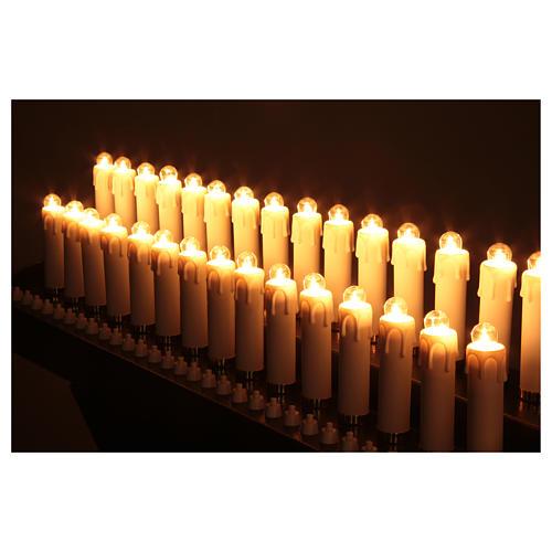 Votivo elettrico 31 candele a 24Vcc pulsanti lampadine 3
