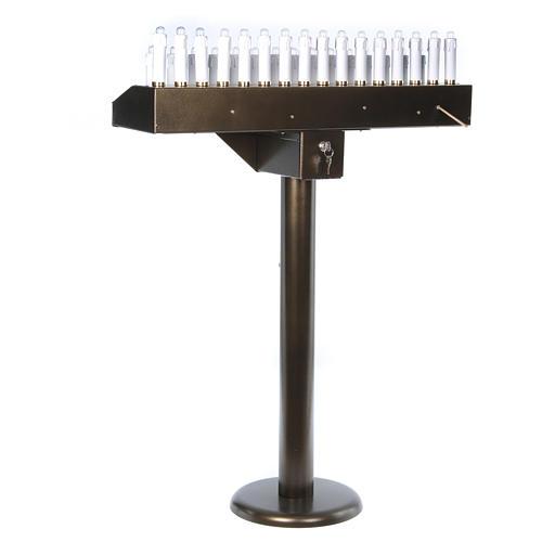 Votivo elettrico 31 candele a 24Vcc pulsanti lampadine 9