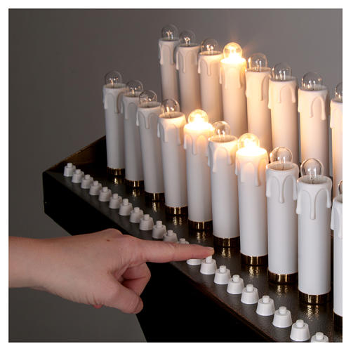 Electric votive 31 lights 24Vcc with buttons 5