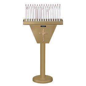Porte-cierge électronique 31 bougies avec coffre blindé s1