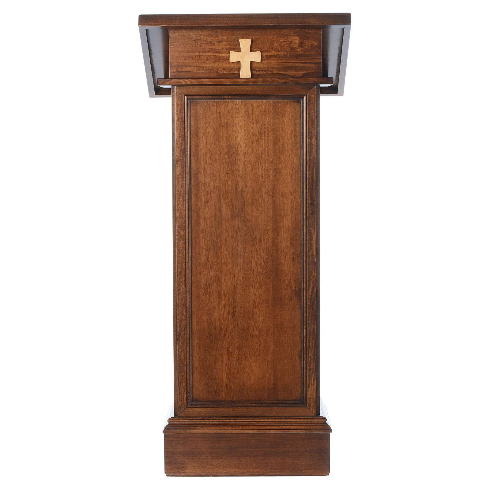 Ambón modelo Asís madera nogal marrón 4