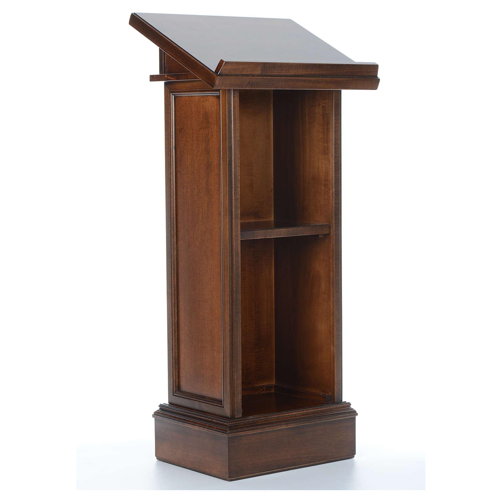 Ambone modello Assisi legno di noce marrone 4