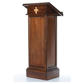 Ambone modello Assisi legno di noce marrone s2