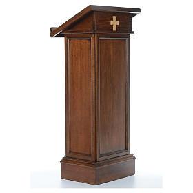 Ambone modello Assisi legno di noce marrone s3