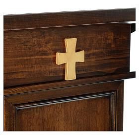 Ambone modello Assisi legno di noce marrone s5