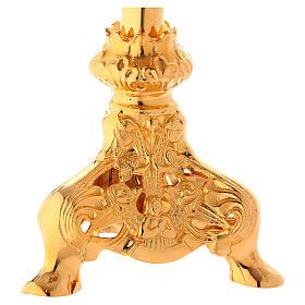 Altar crucifix 75 cm in golden brass s6