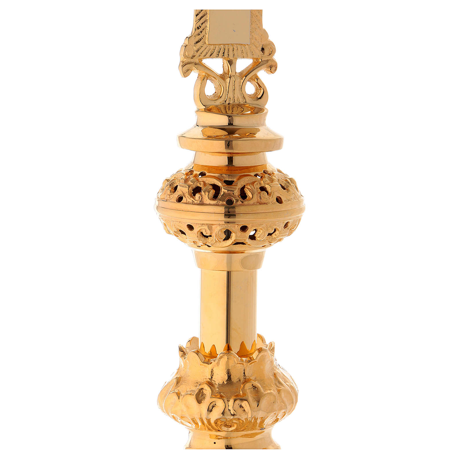 Crucifijo de Altar 75 cm latón dorado 4
