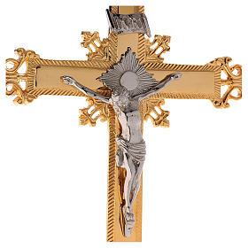 Crucifijo de Altar 75 cm latón dorado s3