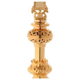 Crucifixo de Altar 75 cm Latão Dourado s4