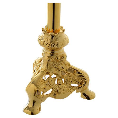 Crocifisso da Altare 105 cm ottone dorato 3