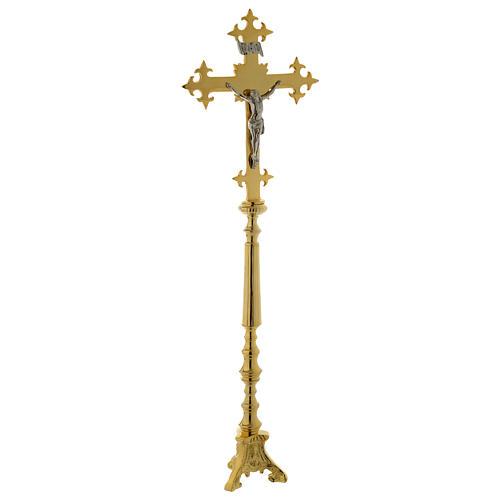 Crucifijo de Altar 78 cm latón dorado 1