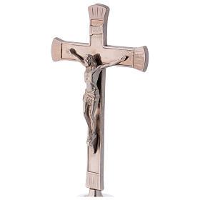 Croce da altare ottone argentato 24 cm s2