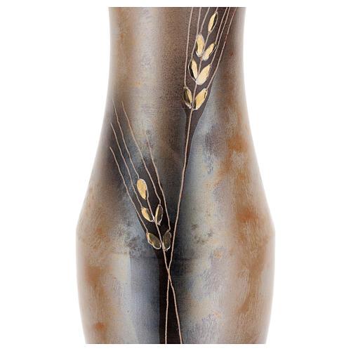 Vaso portafiori ceramica Pompei decoro spiga dorata 2