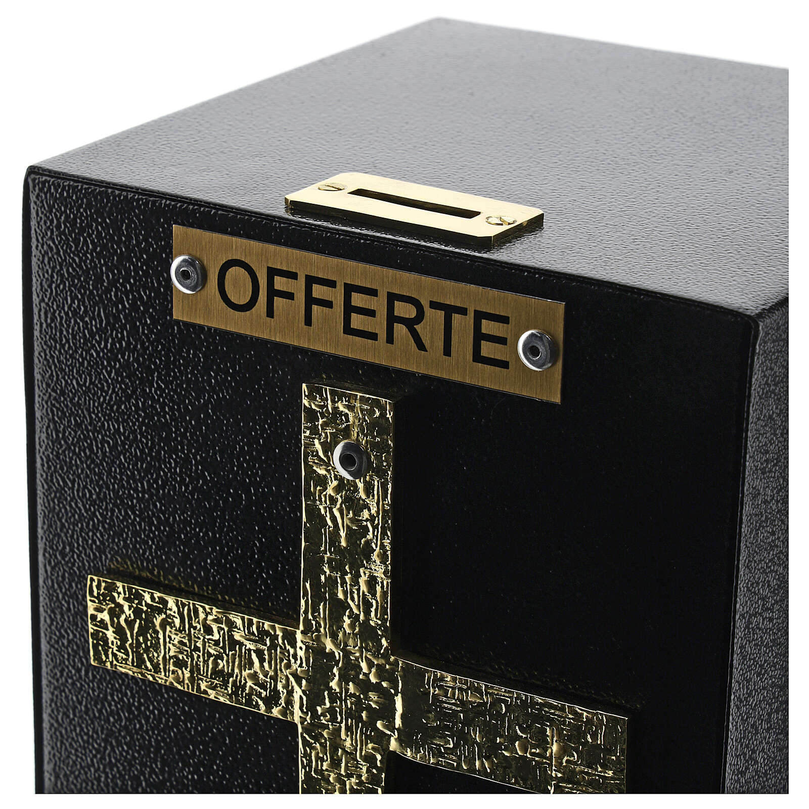 Standing offering box bronze finish with safe donation box 4