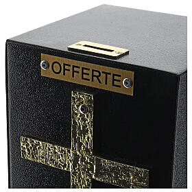 Standing offering box bronze finish with safe donation box s5