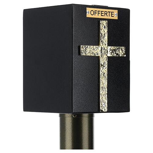 Tronc d'église métal effet bronze avec coffre blindé 6