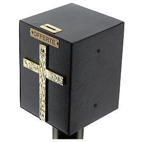 Porta offerte chiesa bronzato con cassetta blindata s2