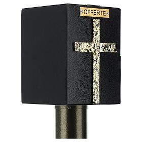 Porta offerte chiesa bronzato con cassetta blindata s6