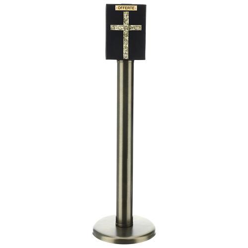 Porta offerte chiesa bronzato con cassetta blindata 4