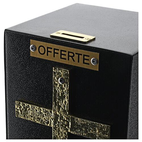 Porta offerte chiesa bronzato con cassetta blindata 5