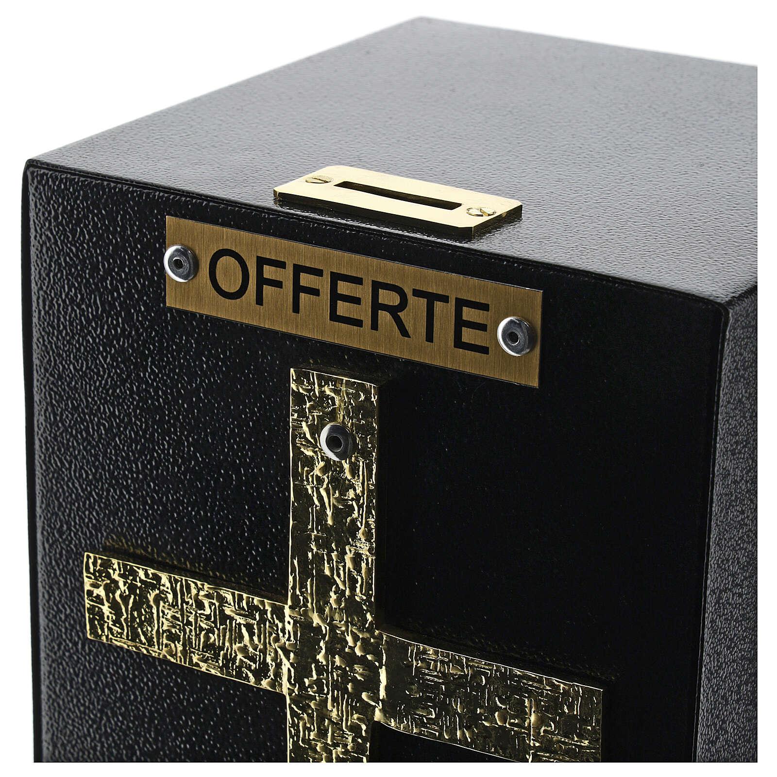 Caixa blindada bronzeada para dízimos e ofertas igreja 4