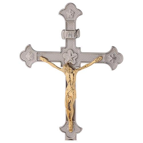Cruz altar uva y hojas de vid con candelabros 2