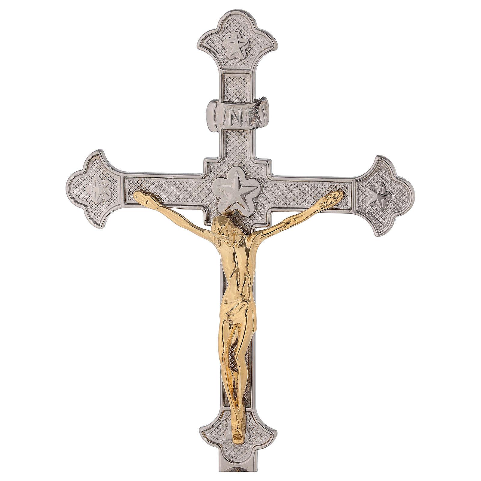 Croix autel base raisin et feuilles de vigne avec chandeliers 4