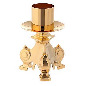 Completo altare croce e candelieri ottone 35 cm s3