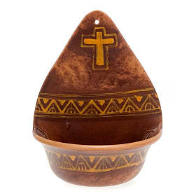 bénitier, croix en céramique s3