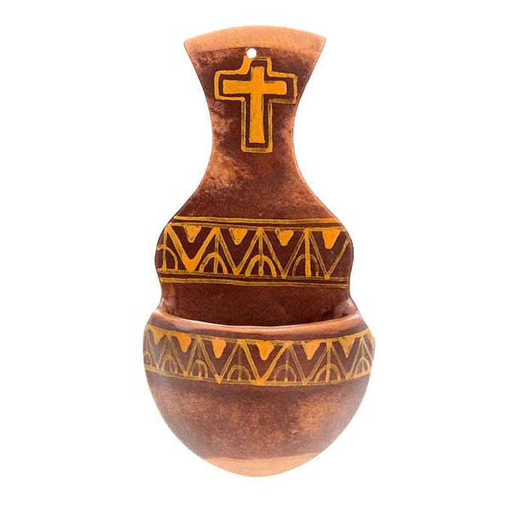 Weihwasserbecken Amphore Keramik 4