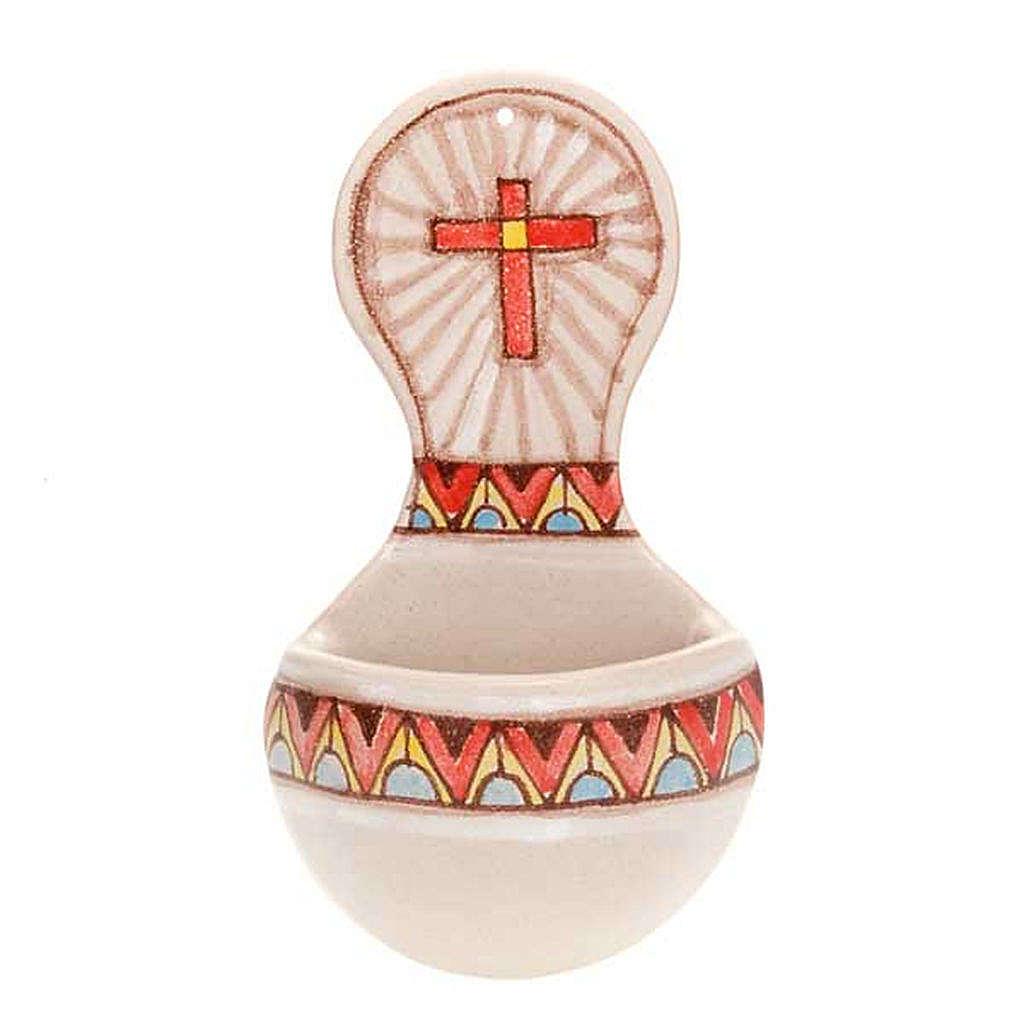 Acquasantiera tonda ceramica 4