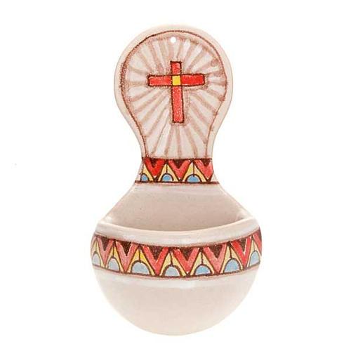 Acquasantiera tonda ceramica 2