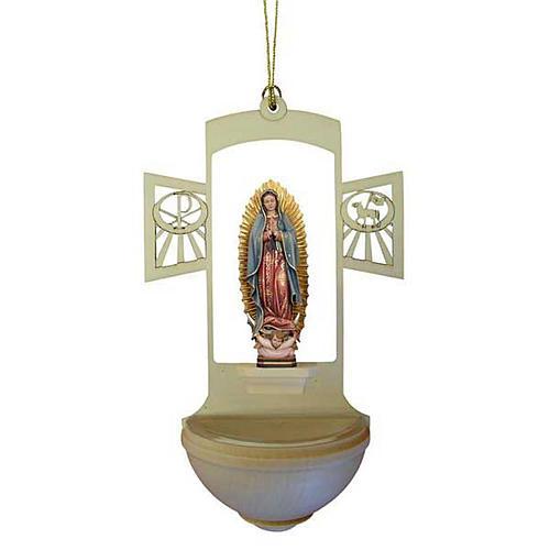 Acquasantiera legno Madonna di Guadalupe 1