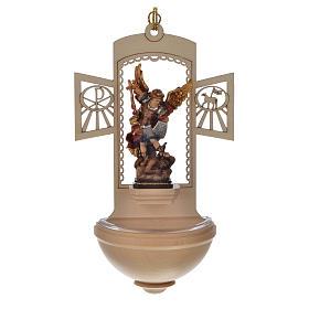 Kropielnica drewno nacięte Święty Michał malowany s1