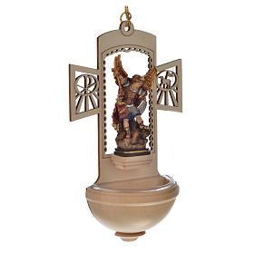 Kropielnica drewno nacięte Święty Michał malowany s2