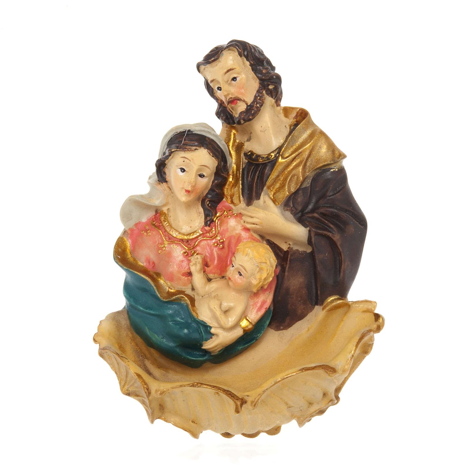 Acquasantiera resina Sacra Famiglia 4