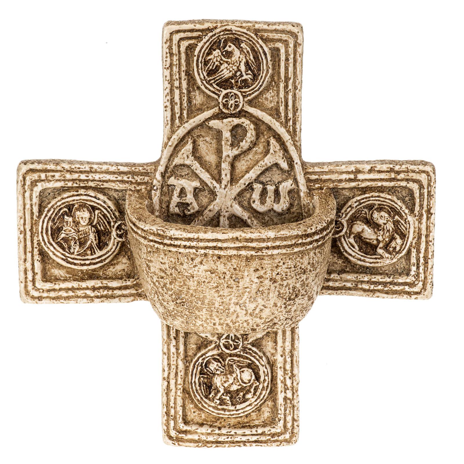 Cross-shaped stoup in stone, Bethléem 4