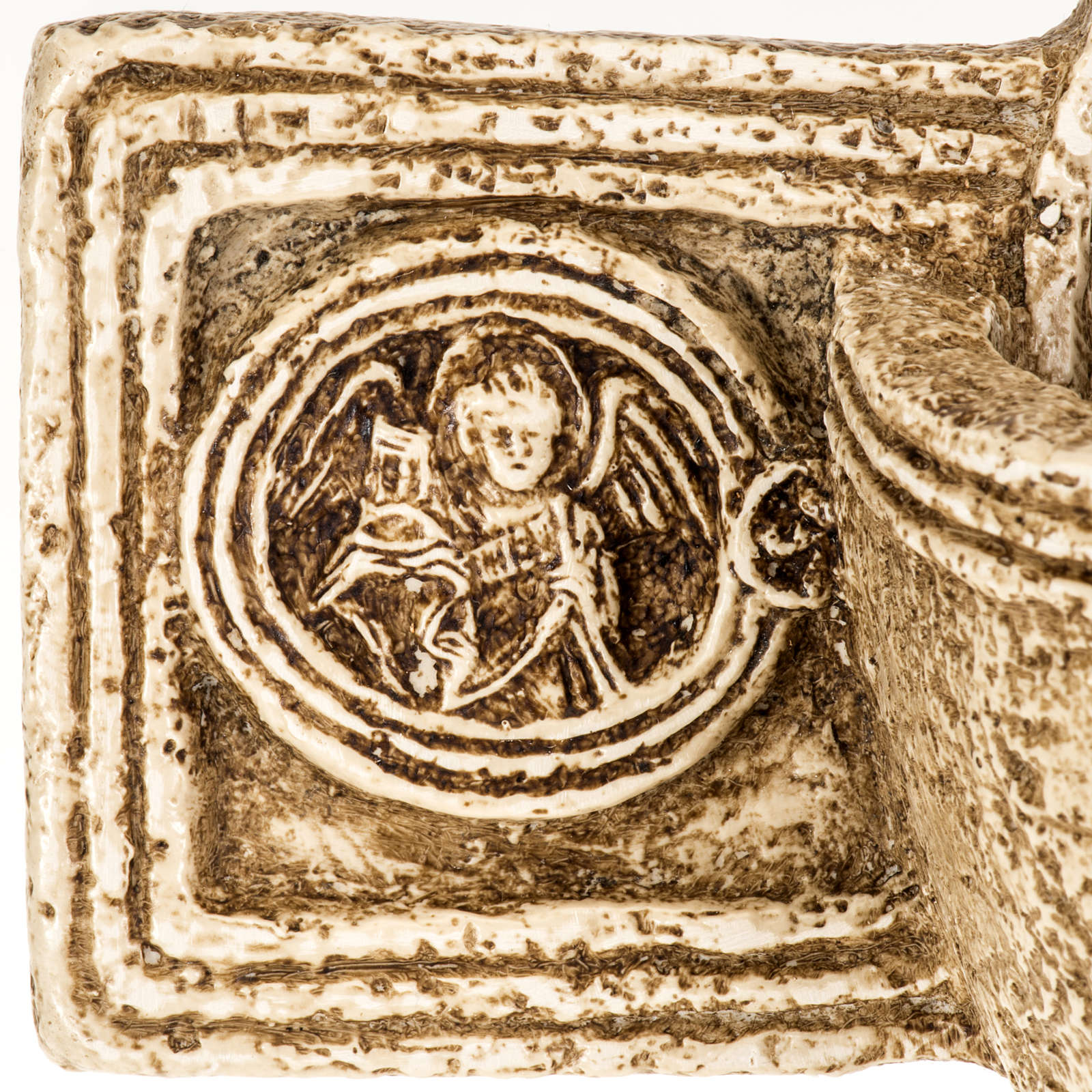 Pila de agua bendita forma cruz de piedra Bethléem 4