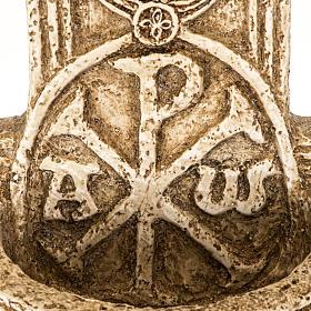 Pila de agua bendita forma cruz de piedra Bethléem s3