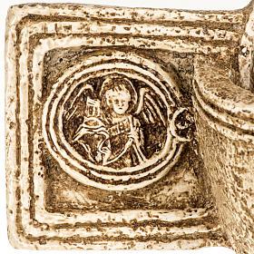 Pila de agua bendita forma cruz de piedra Bethléem s4