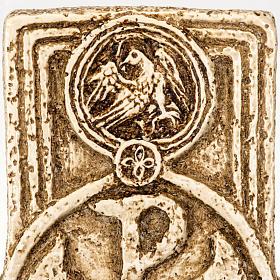 Pila de agua bendita forma cruz de piedra Bethléem s5