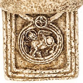 Pila de agua bendita forma cruz de piedra Bethléem s7