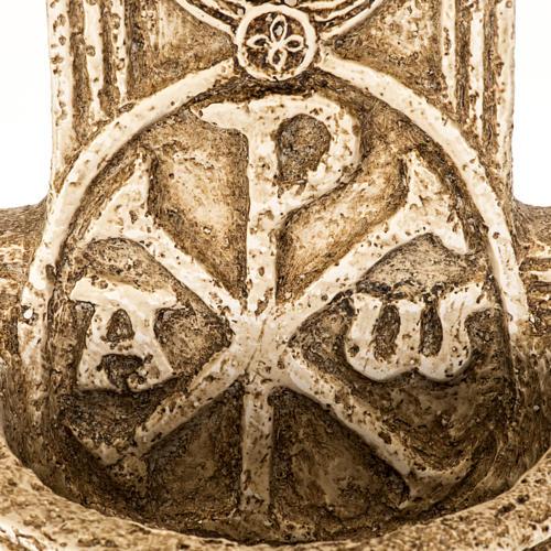 Pila de agua bendita forma cruz de piedra Bethléem 3