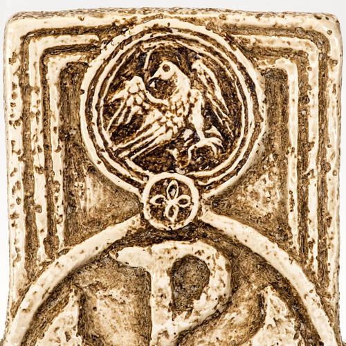 Pila de agua bendita forma cruz de piedra Bethléem 5