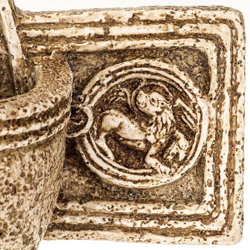Acquasantiera Bethléem pietra croce 6